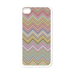Chevron Colorful Background Vintage Apple Iphone 4 Case (white) by Pakrebo