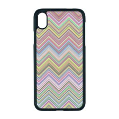 Chevron Colorful Background Vintage Apple Iphone Xr Seamless Case (black)