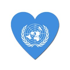 Flag Of United Nations Heart Magnet by abbeyz71