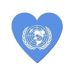 Flag Of United Nations, 1945-1947 Heart Magnet by abbeyz71