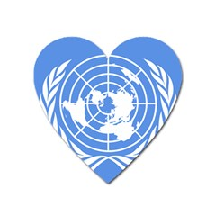 Square Flag Of United Nations Heart Magnet by abbeyz71