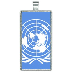 Square Flag Of United Nations Rectangle Necklace by abbeyz71