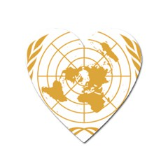 Emblem Of United Nations Heart Magnet by abbeyz71