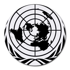 Emblem Of United Nations Round Mousepads by abbeyz71