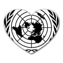 Emblem Of United Nations Heart Mousepads by abbeyz71