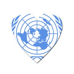 Blue Emblem Of United Nations Heart Magnet by abbeyz71