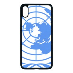 Blue Emblem Of United Nations Apple Iphone Xs Max Seamless Case (black)