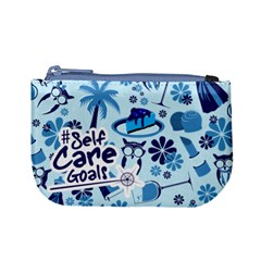 Self Care Goals (blue) Coin Change Purse by TransfiguringAdoptionStore