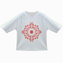 Floral Design In Living Coral And White Infant/toddler T Shirts