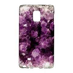 Amethyst Purple Violet Geode Slice Samsung Galaxy Note Edge Hardshell Case
