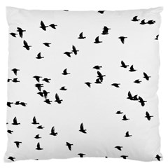 My Flock   Black & White Large Flano Cushion Case (two Sides) by WensdaiAddamns