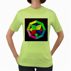 Logo Vector Sign Emblem Women s Green T Shirt