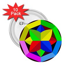 Logo Vector Sign Emblem 2 25  Buttons (10 Pack)