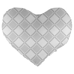 Seamless Background Abstract Vector Large 19  Premium Heart Shape Cushions