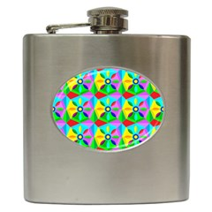 Star Texture Template Design Hip Flask (6 Oz)