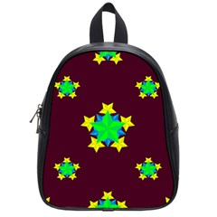 Pattern Star Vector Multi Color School Bag (small)