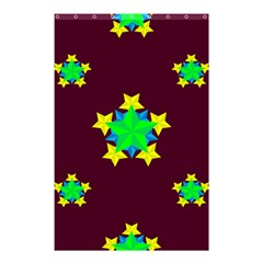 Pattern Star Vector Multi Color Shower Curtain 48  X 72  (small)