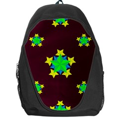 Pattern Star Vector Multi Color Backpack Bag by Pakrebo