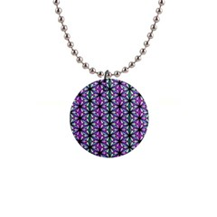 Geometric Patterns Triangle Seamless 1  Button Necklace