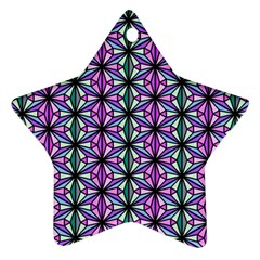 Geometric Patterns Triangle Seamless Star Ornament (two Sides)
