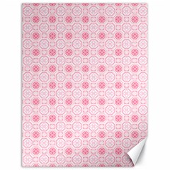 Traditional Patterns Pink Octagon Canvas 18  X 24
