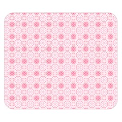 Traditional Patterns Pink Octagon Double Sided Flano Blanket (small)