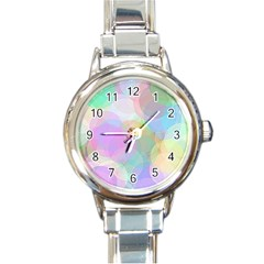 Abstract Background Texture Round Italian Charm Watch
