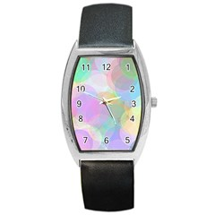 Abstract Background Texture Barrel Style Metal Watch