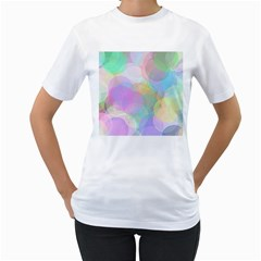 Abstract Background Texture Women s T Shirt (white)