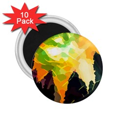 Forest Trees Nature Wood Green 2 25  Magnets (10 Pack)  by Pakrebo