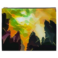 Forest Trees Nature Wood Green Cosmetic Bag (xxxl)