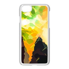 Forest Trees Nature Wood Green Apple Iphone 7 Seamless Case (white)