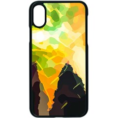 Forest Trees Nature Wood Green Apple Iphone X Seamless Case (black)