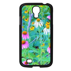 White And Purple Coneflowers And Yellow Rudbeckia Samsung Galaxy S4 I9500/ I9505 Case (black)