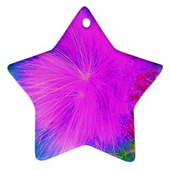 Psychedelic Purple Garden Milkweed Flower Ornament (star)