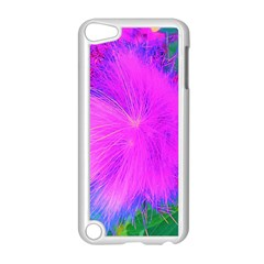 Psychedelic Purple Garden Milkweed Flower Apple Ipod Touch 5 Case (white)