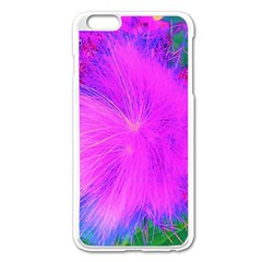Psychedelic Purple Garden Milkweed Flower Apple Iphone 6 Plus/6s Plus Enamel White Case
