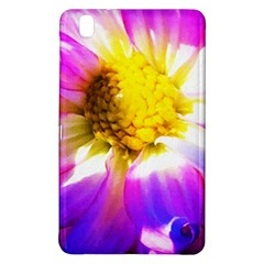 Purple, Pink And White Dahlia With A Bright Yellow Center Samsung Galaxy Tab Pro 8 4 Hardshell Case