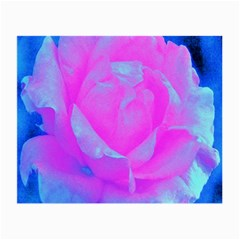 Beautiful Pastel Pink Rose With Blue Background Small Glasses Cloth