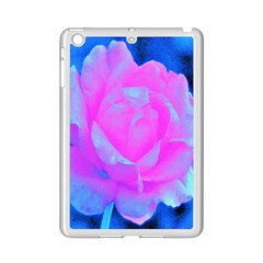 Beautiful Pastel Pink Rose With Blue Background Ipad Mini 2 Enamel Coated Cases by myrubiogarden