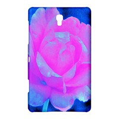 Beautiful Pastel Pink Rose With Blue Background Samsung Galaxy Tab S (8 4 ) Hardshell Case
