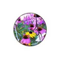 Yellow Flowers In The Purple Coneflower Garden Hat Clip Ball Marker