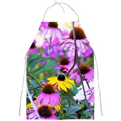 Yellow Flowers In The Purple Coneflower Garden Full Print Aprons