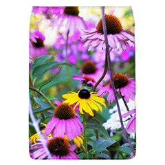 Yellow Flowers In The Purple Coneflower Garden Removable Flap Cover (l)