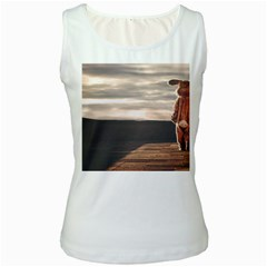 One Lonely Bunny Women s White Tank Top