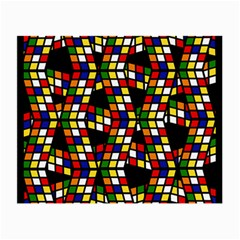 Graphic Pattern Rubiks Cube Cube Small Glasses Cloth (2 Side)