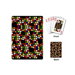 Graphic Pattern Rubiks Cube Cube Playing Cards (mini) by Pakrebo
