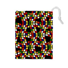 Graphic Pattern Rubiks Cube Cube Drawstring Pouch (large)