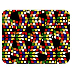 Graphic Pattern Rubiks Cube Cube Double Sided Flano Blanket (medium)