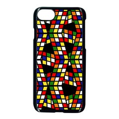 Graphic Pattern Rubiks Cube Cube Apple Iphone 8 Seamless Case (black) by Pakrebo